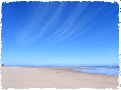 The shore near Findhorn spiritual retreat in the UK