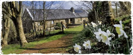 The Barn rural spiritual retreat in the UK in the spring