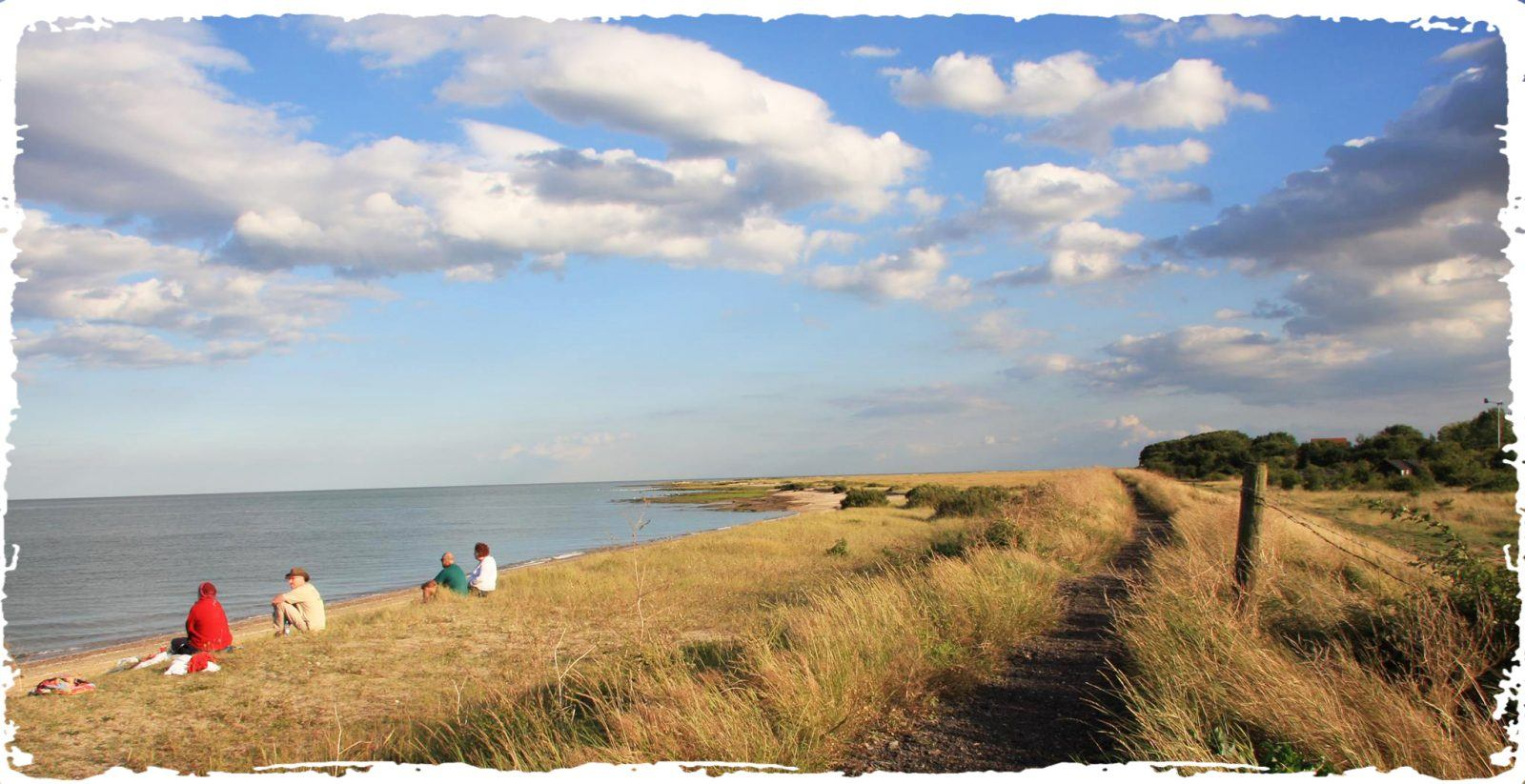 The coast line at Othona Community spiritual retreat in the UK