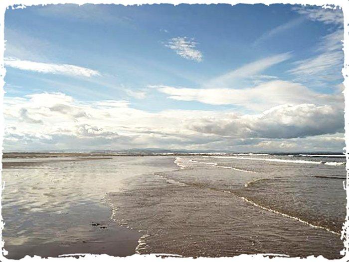 The coast near Othona spiritual retreat in the UK