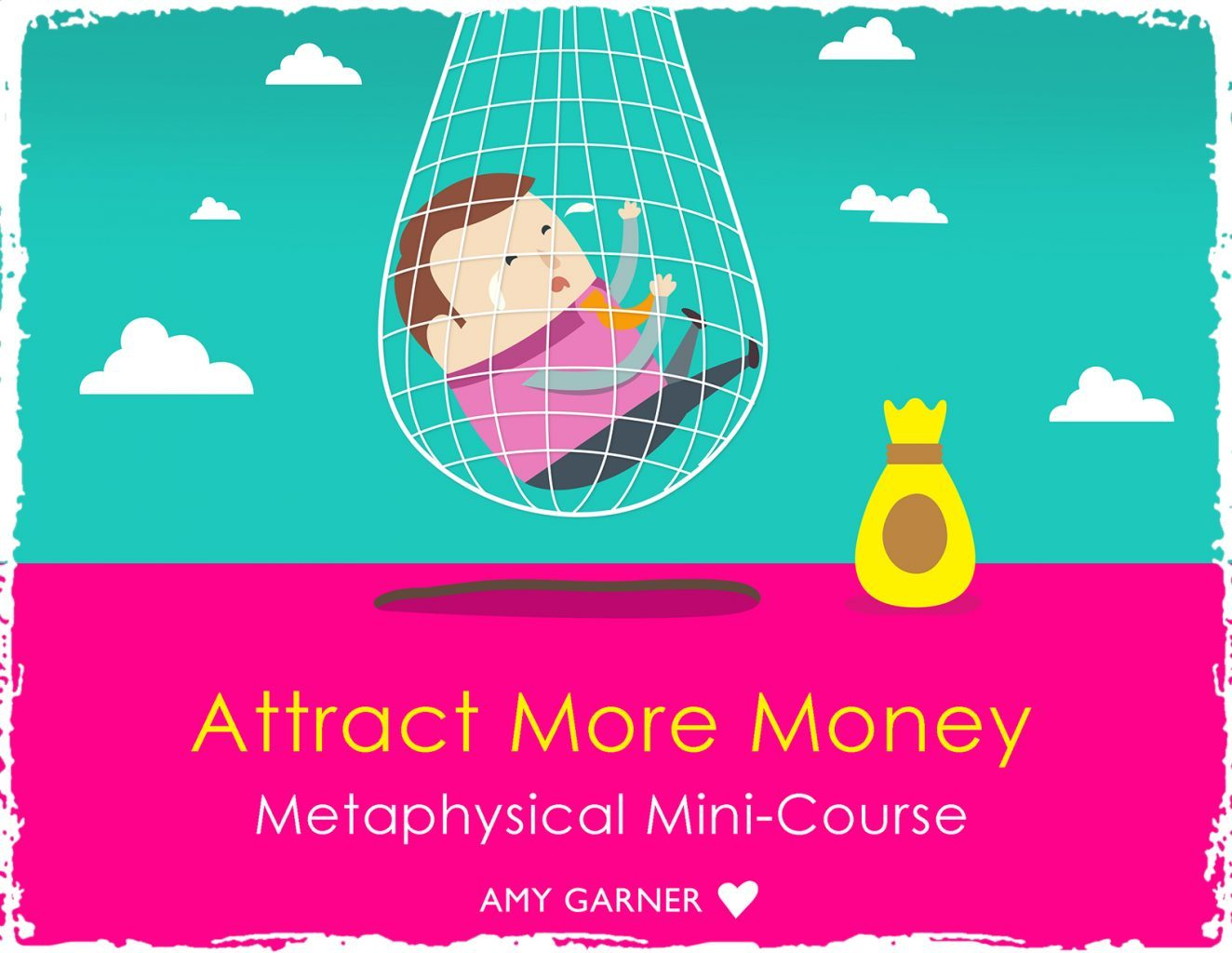 Attract more money image showing man in a financial net