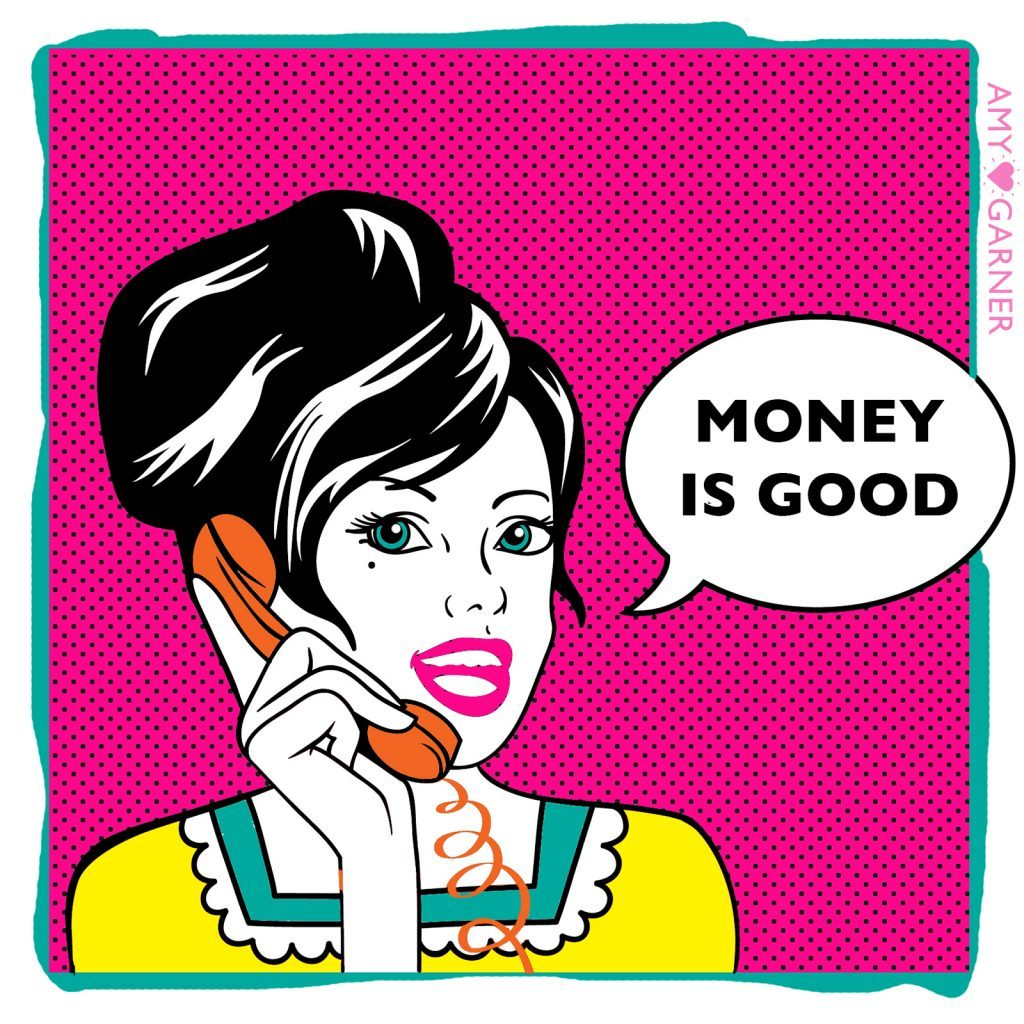 Women trying to attract more money by saying money is good