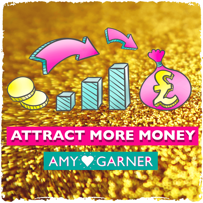 attract more money course banner in gold