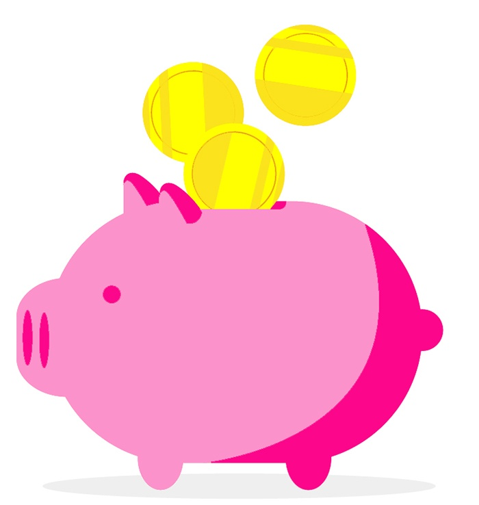 Attract more money by putting money in a piggy bank