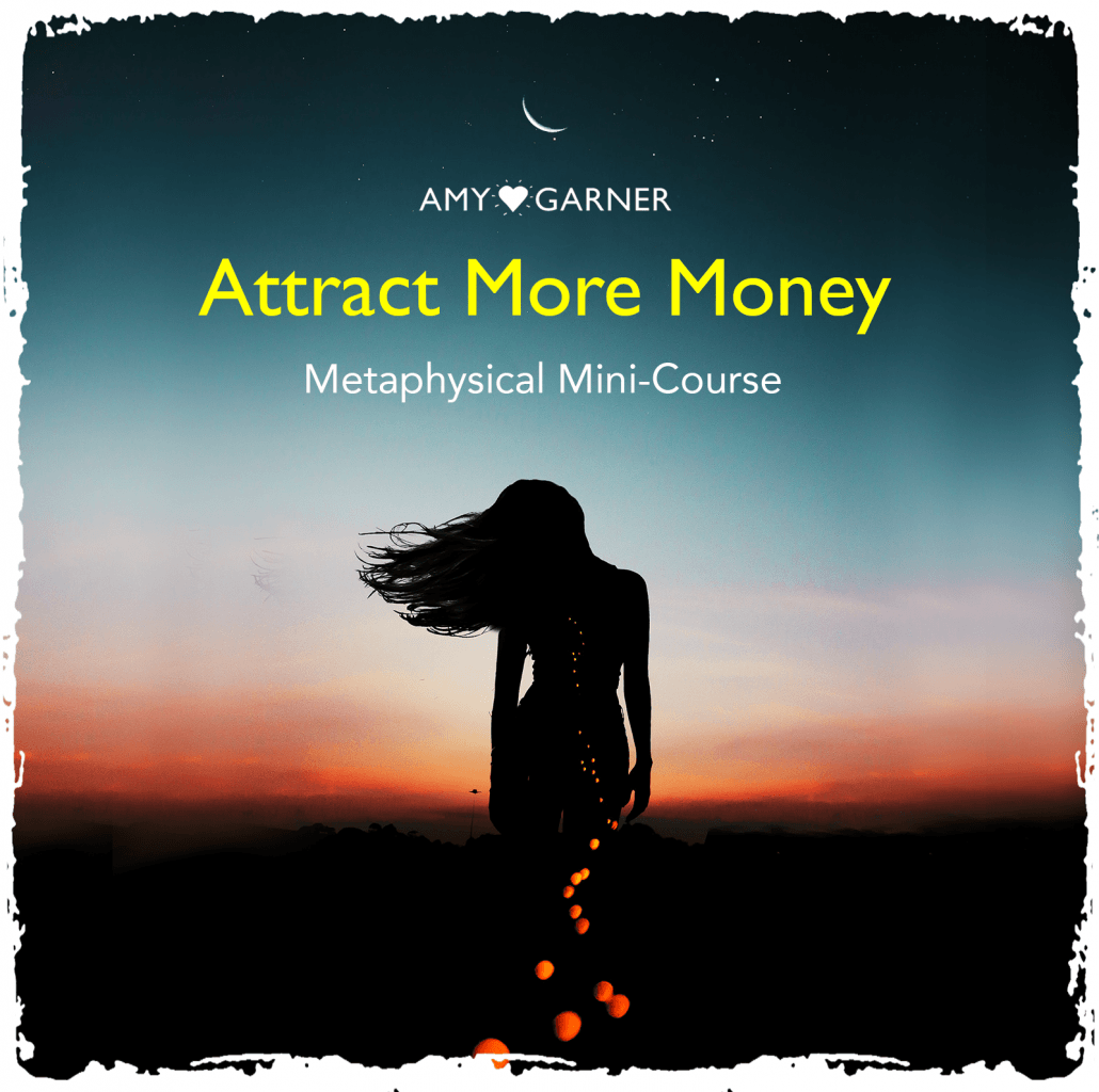 attract more money banner showing woman and sunset