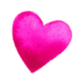 pink heart text break