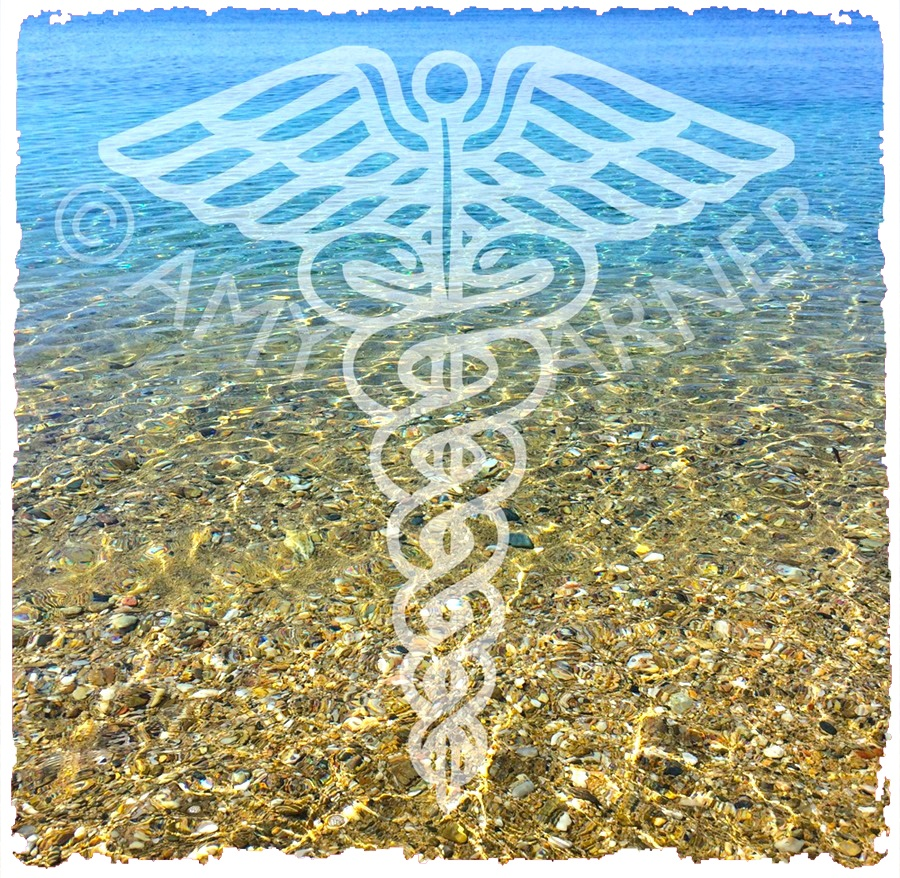 Image showing the caduceus symbol of healing as part of solo witch solitary magic