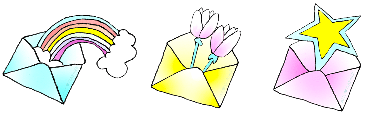 How to heal a broken heart sign up icons showing envelopes for email newsletter