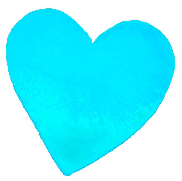 Teal heart