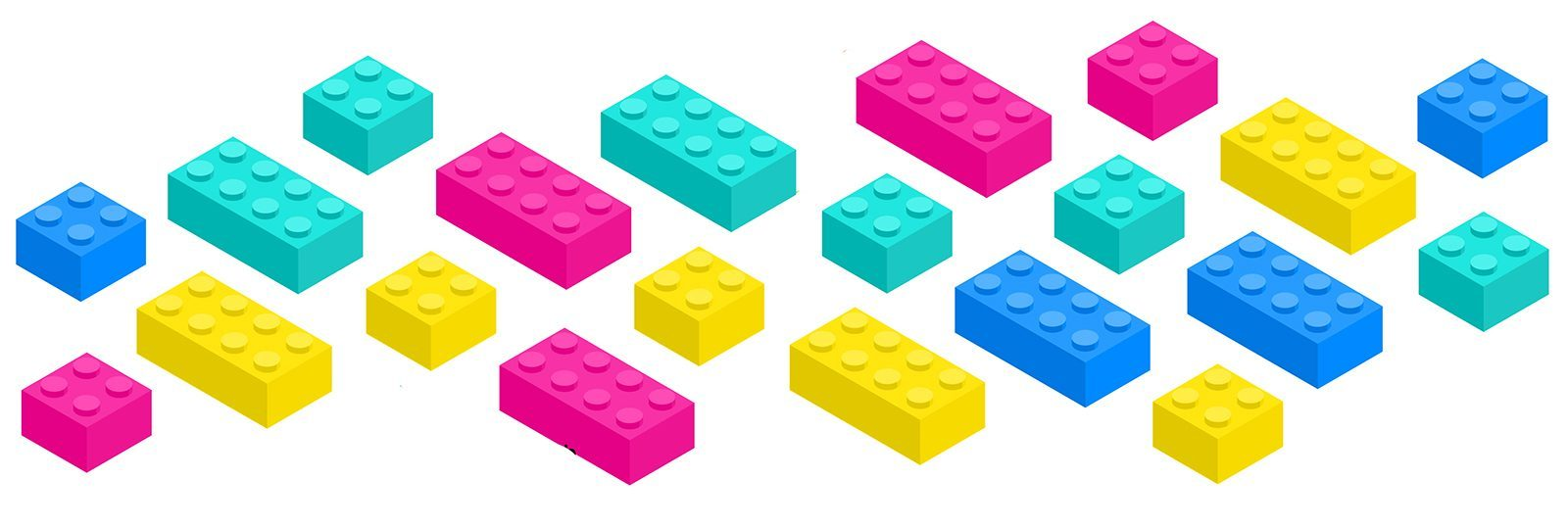 Clear blocks + limiting beliefs showing lego blocks in colour