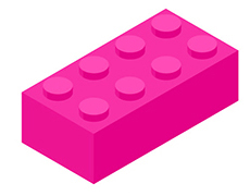Text break pink lego block