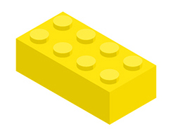 Text break yellow lego block