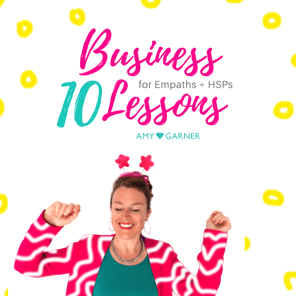Amy on the cover of 10 lessons for the highly sensitive person in business