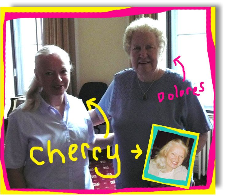 Cherry Emery with Dolores Cannon who was one of the best healers in the UK