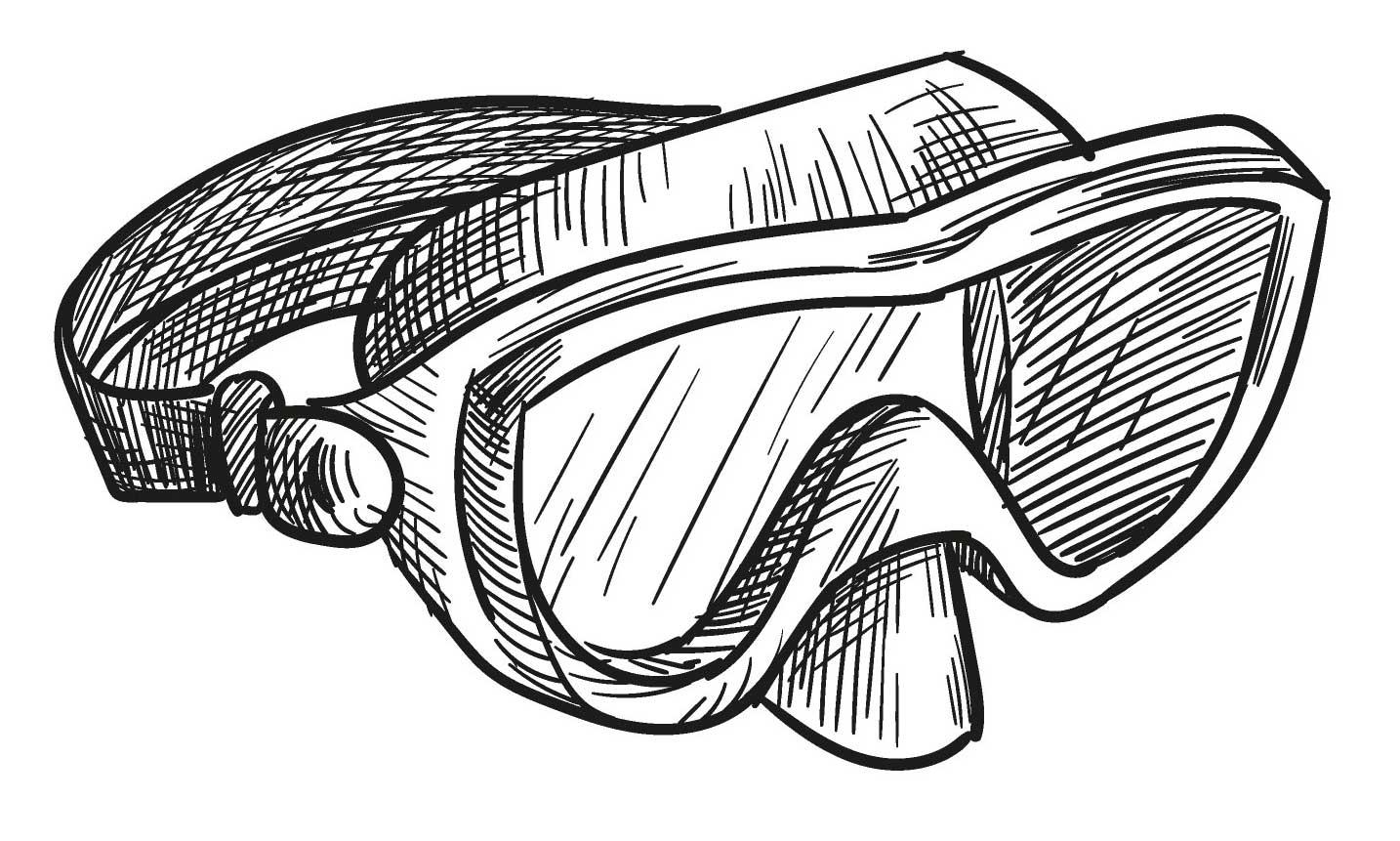 snorkel for sea swimming