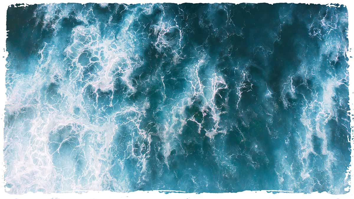 Healing benefits of the sea waves and surf swell for swimming, healing and fitness