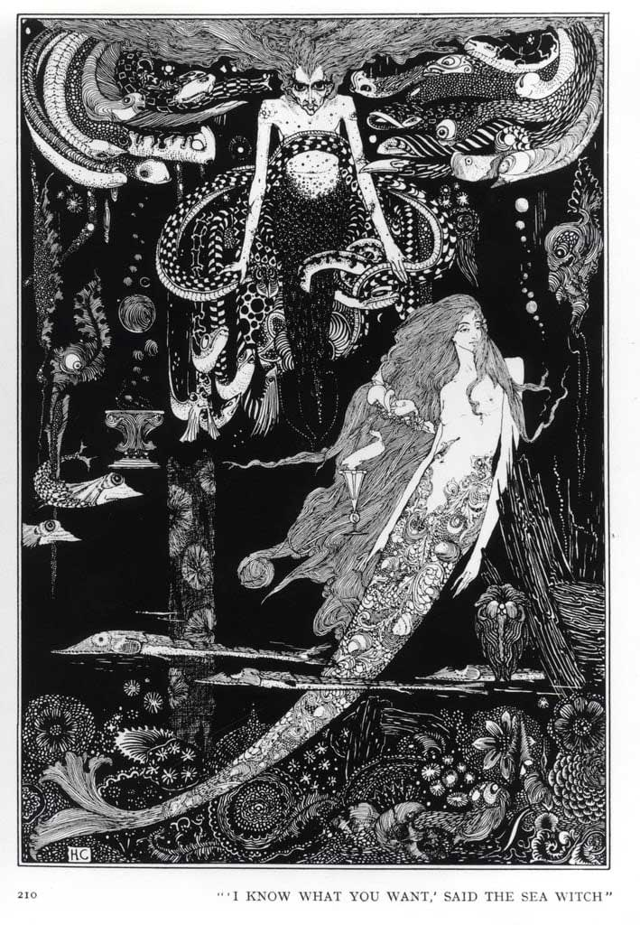 Sea witch painting by Harry Clarke, 1920